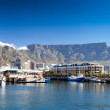 Cape town v&a waterfront and table mountain - Stok fotoğraf