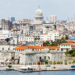 The city of Havana including famous buildings - Stock Photo