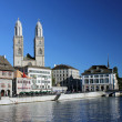 Zurich und Limmat - Stock Photo