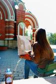 El estudiante en el examen. — Foto de Stock