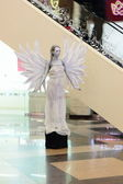 Sculpture girl-angel — 图库照片