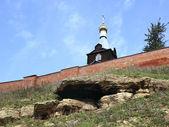 Em torno das paredes do mosteiro masculino — Foto Stock