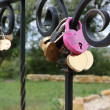 Padlocks on fidelity in love. — Foto Stock