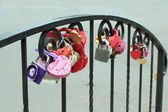 Padlocks on fidelity in love. — Stock Photo