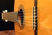 гитары резонатора в фокусе — Стоковое фото