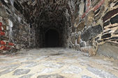 Log in stone built tunnel. — Stock Photo