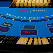 Black jack table — Stock Photo
