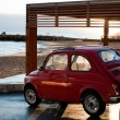 Постер, плакат: Italy Sicily Selinunte October 09 2011 fiat 500 near the beach