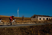 Italy, Sicily, Bicycles in the countryside — Stock Photo