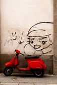 Old vespa — Stock Photo