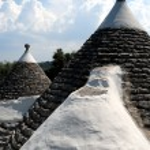 Puglia, trullo, tipical roofs — Stock Photo #14429953