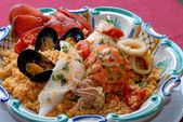 Sicilan fish couscous — Stock Photo