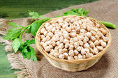 Dried chick Peas on a table — Stock Photo