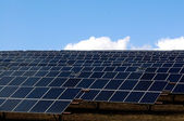 Series of photovoltaic panels — Foto Stock