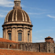 Dome and roof in Catania — Stock Photo