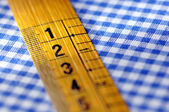 Tailor's measuring tape closeup — Foto de Stock