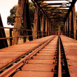 Rusty railway bridge — Stock Photo