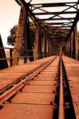 Rusty railway bridge — Stock Photo
