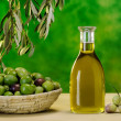 Stock Photo: Bottle of extrvirgin olive oil