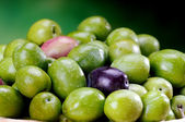 Black and green sicilian olives — Stock Photo