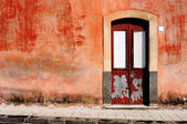 Old wall with door — Stock Photo