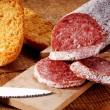 Stock Photo: Seasoned salami