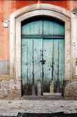 Sicilian old door — Stock Photo