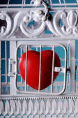 Locked heart — Stock Photo