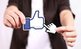 Facebook Like Button — Stock Photo