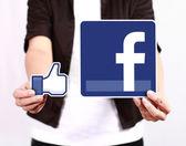 Facebook en als pictogram — Stockfoto