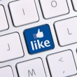 Facebook like icon keyboard — Stock Photo