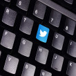 Twitter keyboard — Stock fotografie