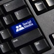 Social Media Key — Stock Photo