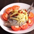 Chinese style steamed fish — Stock Photo