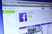 Facebook App on Google Play — Stock Photo