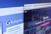 Flickr and Instagram Website — Stock Photo