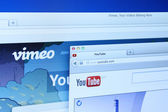 Vimeo and Youtube Websites — Stock Photo