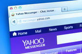 Yahoo Messenger Website — Stock Photo