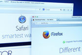 Mozilla Firefox and Safari Website — Stock Photo