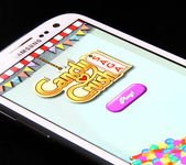 Candy crush saga spiel — Stockfoto