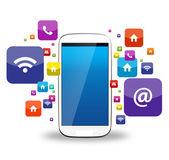 Smartphone och apps — Stockfoto