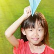 Child with paper airplane — Stock Photo #45441083