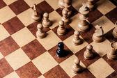 Chess racism — Stock Photo