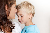 Mother with son are sharing love — Stock Photo