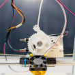 Electronic 3D plastic printer during work in school laboratory — Stok fotoğraf