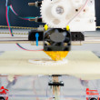 Electronic 3D plastic printer during work in school laboratory — Photo