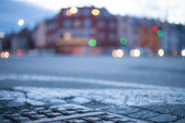 Blurred background - night street with street lights, great for — Stock Photo