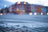 Fondo borroso - calle de noche con las luces de la calle, ideales para — Foto de Stock