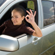 Driver showing OK — Stock Photo #14176088