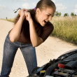 Destroying the car! - Stock Photo